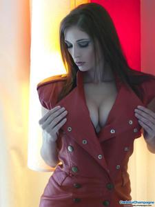 Carlotta Champagne Red Leather Dress