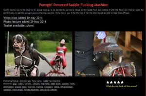House of Gord: Ponygirl Powered Saddle Fucking Machine