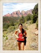 Danica Patrick Sexy Twitter Picture ~ Hiking in Tights & a Tanktop